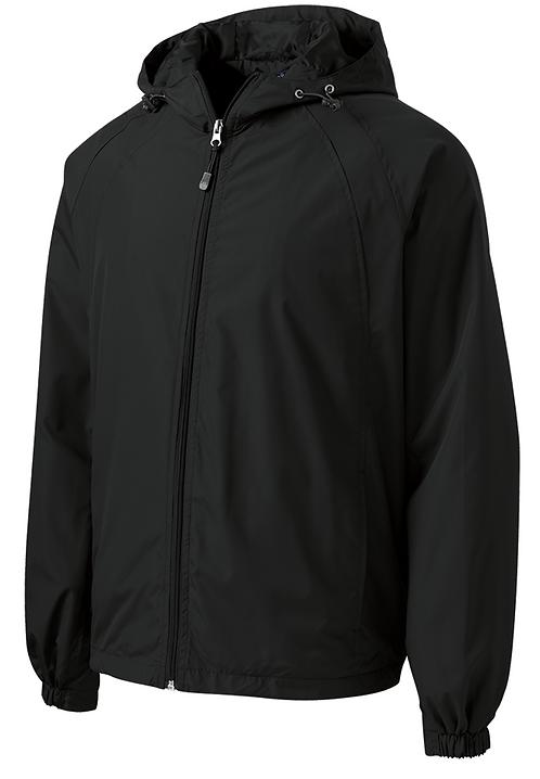 Adults Hooded Raglan Jacket - Black