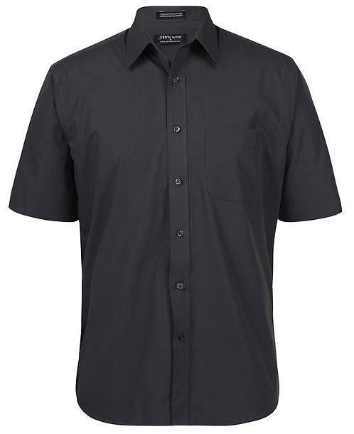 JB's Mens SS Poplin Shirt - Charcoal