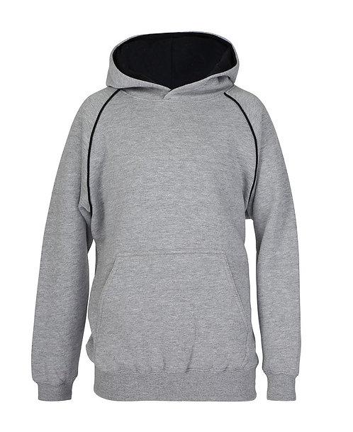 Contrast Fleece Hoodie - Grey/Black
