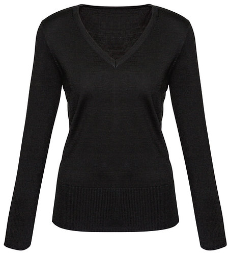 Womens Milano Wool Blend Pullover - Black