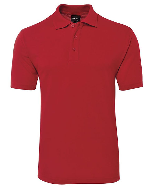 Mens Basic Pique Polo SS - Red