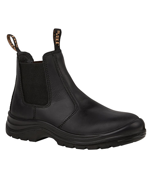JB's Elastic Sided Safety Boot - Black