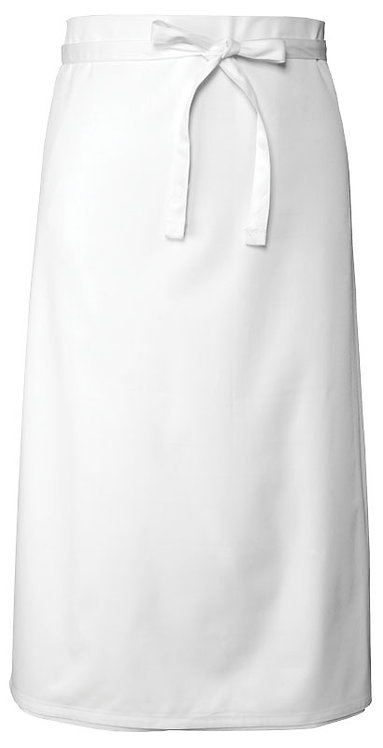 White 3/4 Bar Apron - MOQ 5