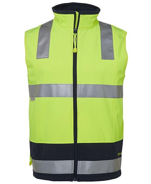 Hi-Vis Softshell Vest (D+N) - Lime/Navy