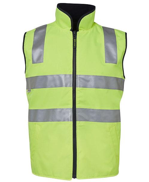 Hi-Vis Reversible Vest (D+N) - Lime/Navy