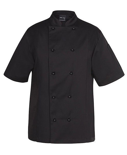 Unisex SS Vented Chef's Jacket - Black