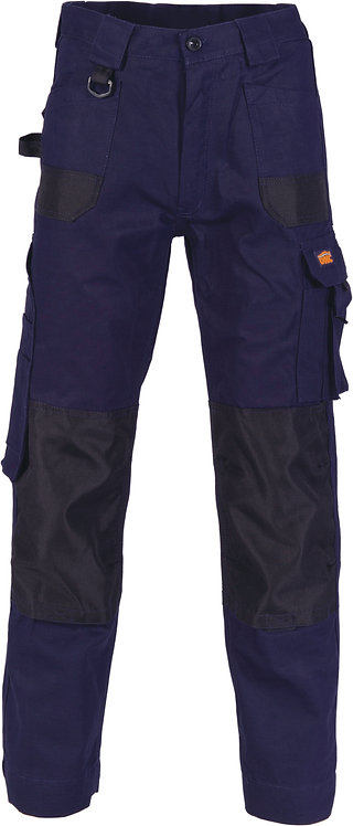 DNC Duratex Cotton Duck Weave Cargo Pants - Navy (knee pads not included)