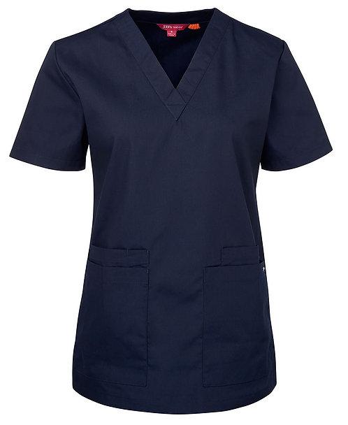 Ladies Essential Scrub Top - Navy