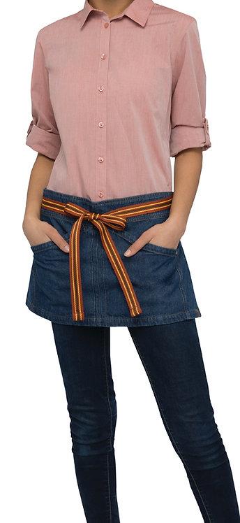 Berkeley Mid Blue Short Waist Apron - Straps Included