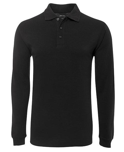 Long Sleeve Polo Shirt - Black
