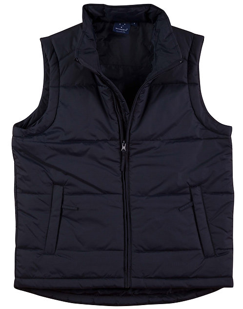 Mens Rip-Stop Padded Vest - Navy