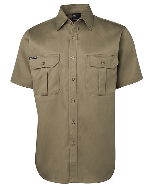 JB's S/S 190G Work Shirt - Khaki