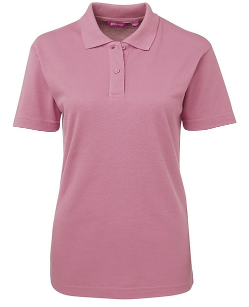 Ladies Basic Pique SS Polo - Musk Pink