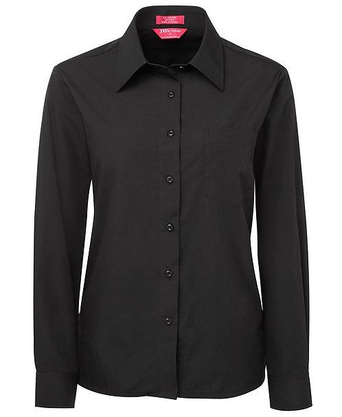 Womens LS Poplin Shirt - Black