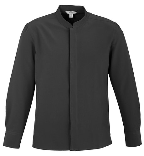 Mens L/S Hospitality Shirt - Charcoal/Black