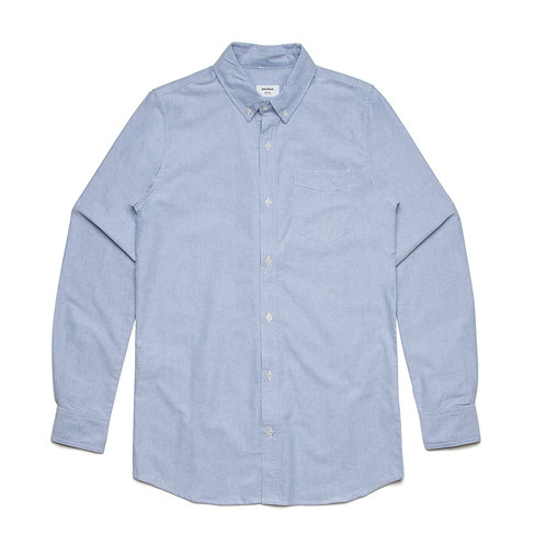 AS Colour Mens 100% Cotton Oxford Shirt Blue - Available from