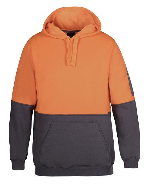 Hi Vis 280G Pull Over Hoodie - Orange/Charcoal