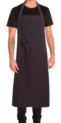 Rockford Steel Grey Large Bib Apron