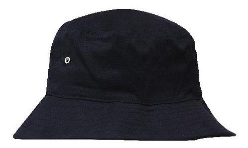 Black Brushed Sports Twill Bucket Hat - MOQ 5