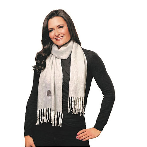 Kanata Lambswool Blend Scarf Light Grey- MOQ 10