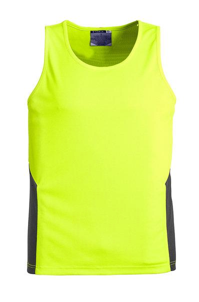 Unisex Hi Vis Squad Singlet - Yellow/Charcoal