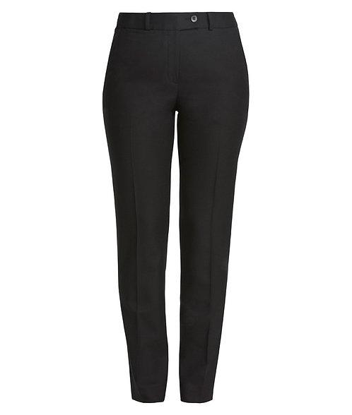 Wool Blend Slime Line Pant - Black