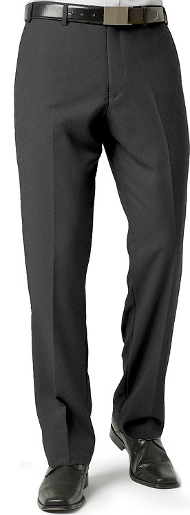 Mens Classic Flat Front Pant - Charcoal Marle