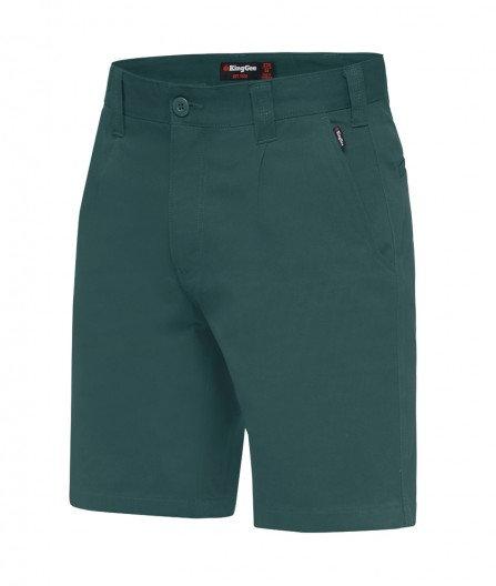 King Gee Belt Loop Longer Leg Drill Short - Green