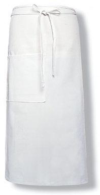 3/4 White Apron with Pocket MOQ 5