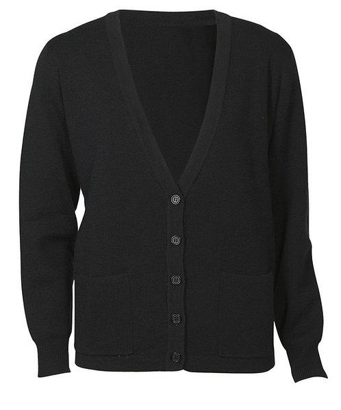 Ladies Wool Mix Cardigan - Black