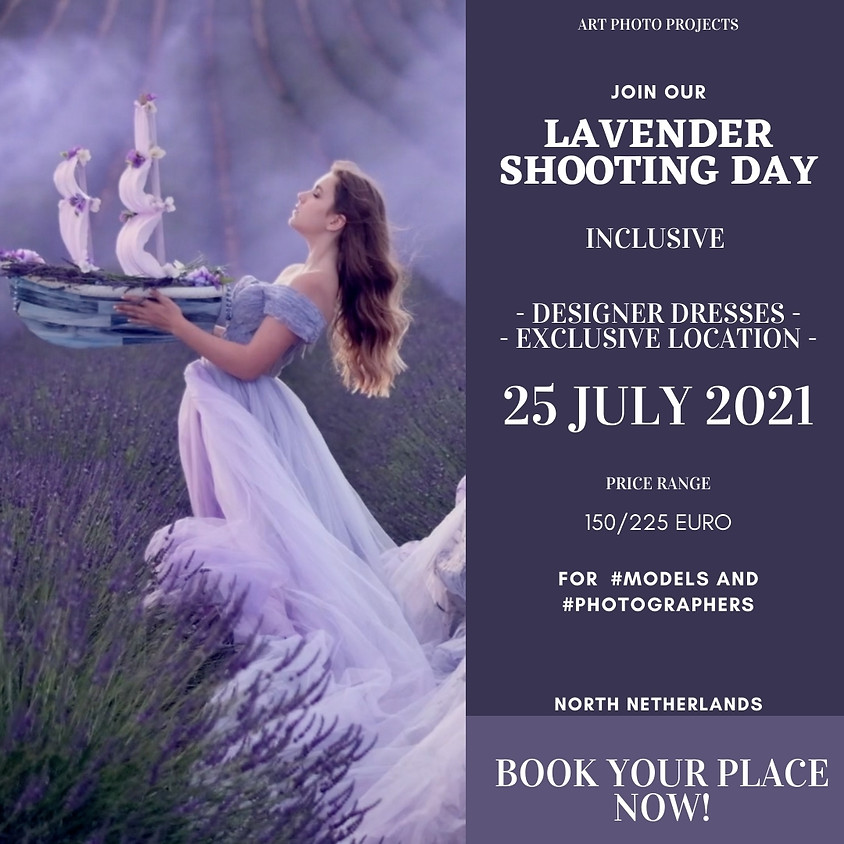 Lavender fields shooting day. Exclusive location