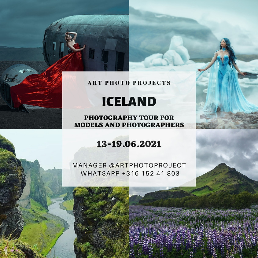 Iceland photography portfolio tour for models and photographers