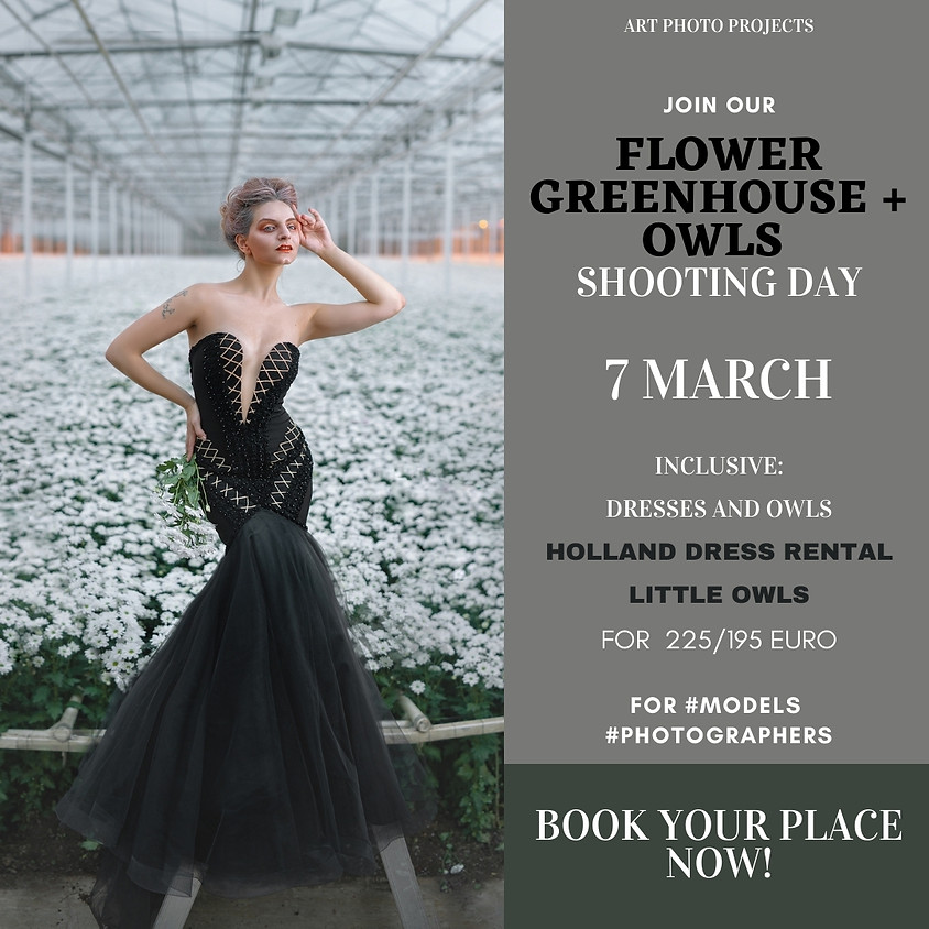 Flower Greenhouse with owls shooting day