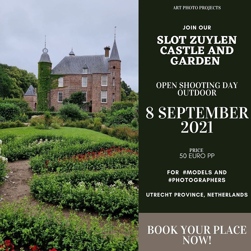 Slot Zuylen castle OUTDOOR shooting day for models and photographers