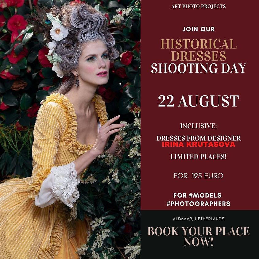 Historical Dresses portfolio shooting day
