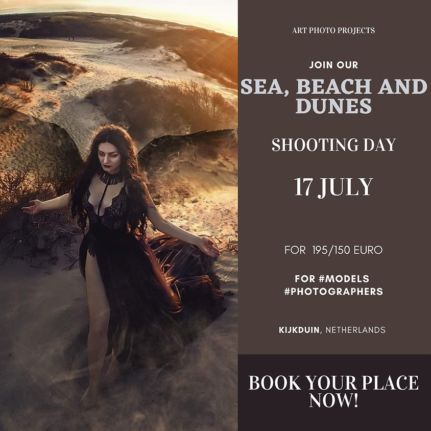 Sea, beach and dunes shooting day