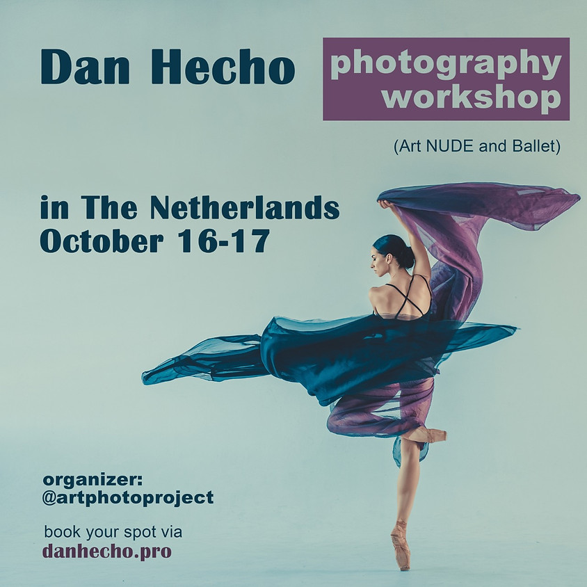 Dan Hecho photography workshop in The Netherlands (artnude and ballet)