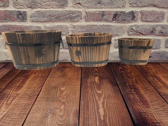 3 Piece Oval Plant Pot Set