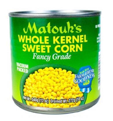 Matouks Whole Sweet Kernel Corn-10oz