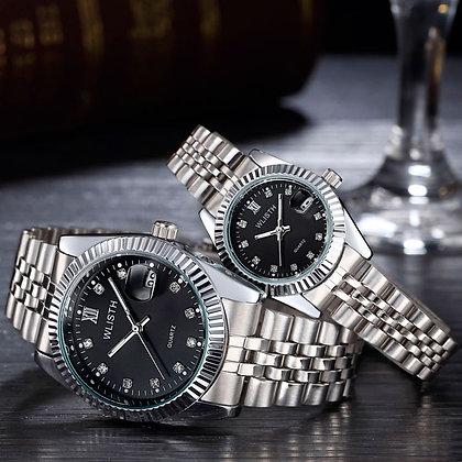 WLISH® Unisex Silver Waterproof Watch
