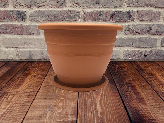 Circular Plant Pot with Tray
