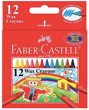 Faber Castell Wax Crayons-12Pack