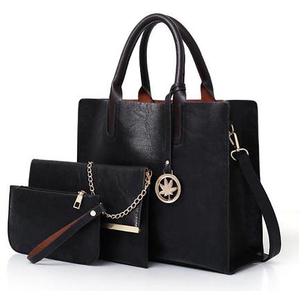 Ladies Leather Tote Bag Set