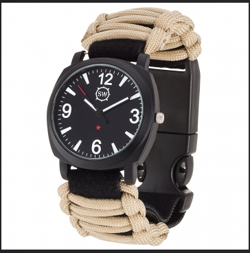 Tan Military Grade Survival Watch