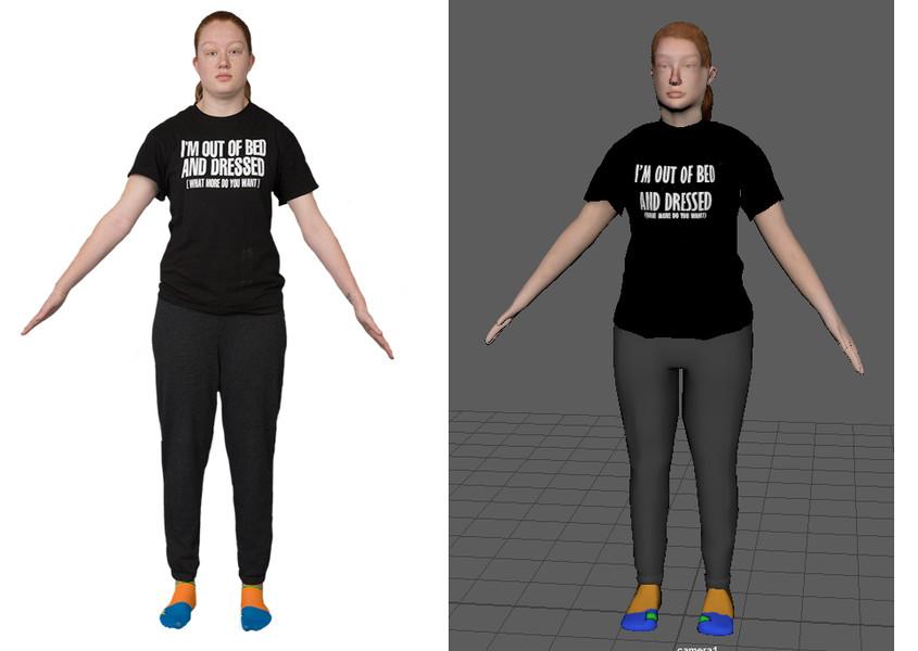 Student 3D Self Portrait Modeling Project - 3D Modeling I Course