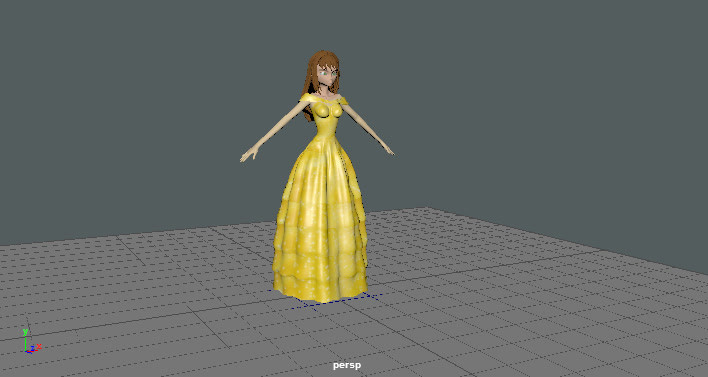 Student Cloth Modeling & Simulation Project - Special Effects Course