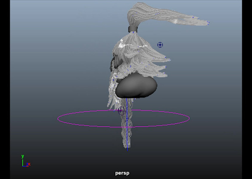 Student Hair & Fur Simulation Project - Special Effects Course