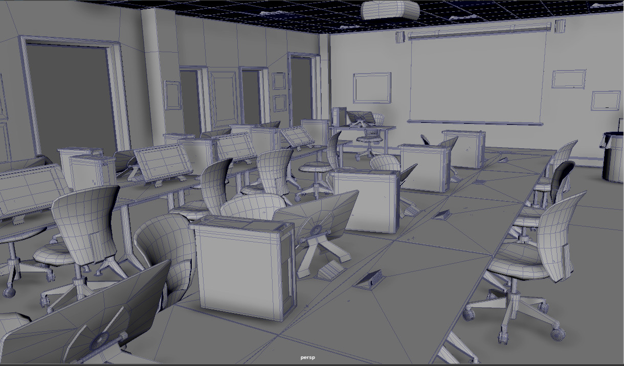 Student Interior Modeling Project - 3D Modeling I Course