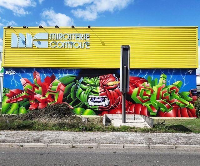 GREEN vs RED_5m x 20m_Mirroiterie Comtoise