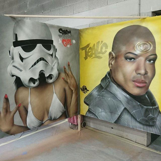 Salon AsianEvent _#stormtrooper #starwars #christopherjudge #tealc #stargatesg1 #asianevent #graffit